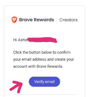 brave browser  verify email