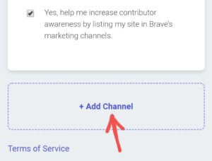 brave browser  add channel