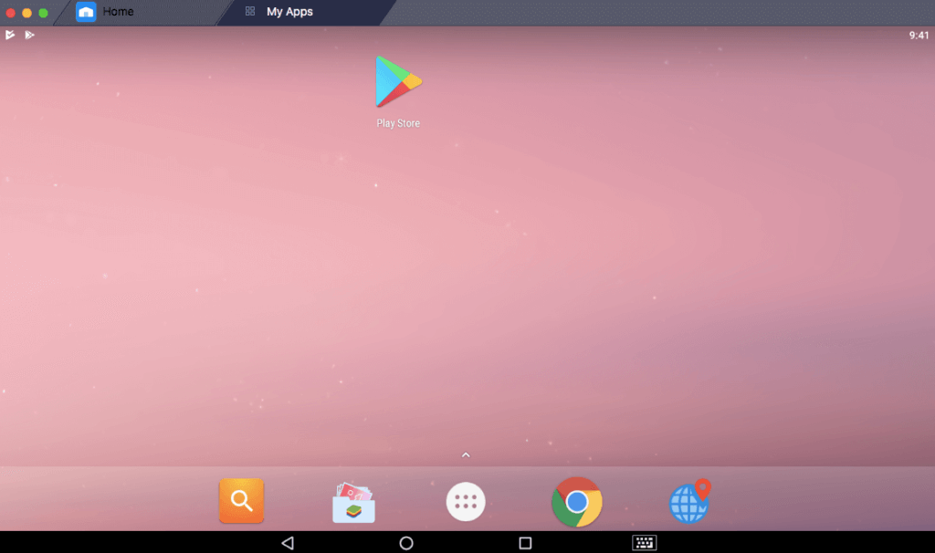 play store option in bluestack pc
