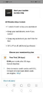 amazon audible free trial for 30 days