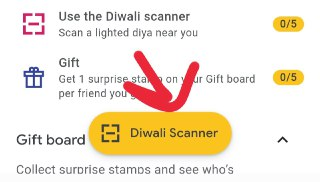 google pay scan to get rangoli or flower