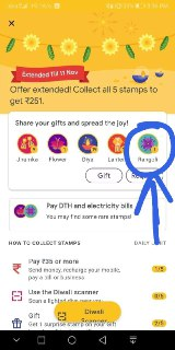 how to getrangoli in google pay scan