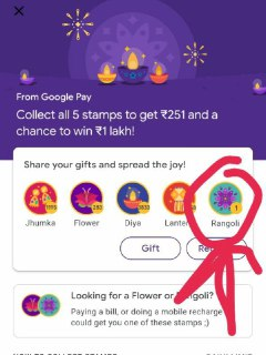 how to get rangoli in google pay