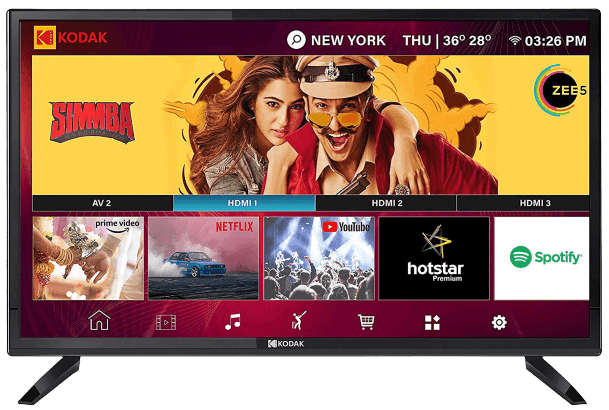 Kodak 80 cm (32 inches) HD Ready LED Smart TV 32HDXSMART Pro (Black) (2019 Model)