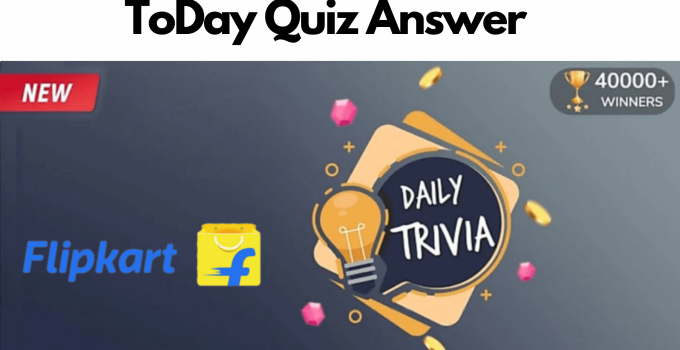 flipkart Daily Trivia Quiz Answer
