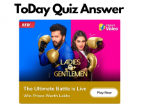 flipkart Ladies Vs Gentlemen Quiz Answer Today